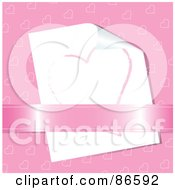 Royalty Free RF Clipart Illustration Of A Hand Drawn Heart Under A Ribbon On A Present