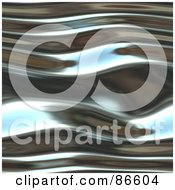 Royalty Free RF Clipart Illustration Of A Wavy Chrome Ripple Background