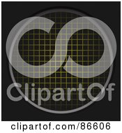 Royalty Free RF Clipart Illustration Of A Glowing Yellow Grid Circle by Arena Creative