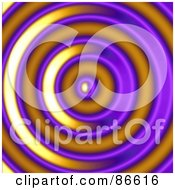 Royalty Free RF Clipart Illustration Of A Purple And Orange Ripple by Arena Creative