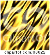 Royalty Free RF Clipart Illustration Of A Yellow And Black Flame Background by Arena Creative