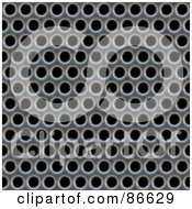 Royalty Free RF Clipart Illustration Of A Grate With Holes Over Black