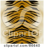Royalty Free RF Clipart Illustration Of A Tiger Print Background Centered by Arena Creative