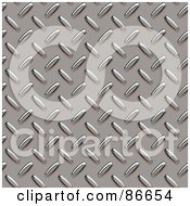 Royalty Free RF Clipart Illustration Of A Seamless Diamond Plate Textured Background Version 2
