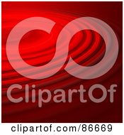 Royalty Free RF Clipart Illustration Of A Background Of Red Rippling Liquid