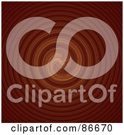 Royalty Free RF Clipart Illustration Of A Circular Brown Ripple Background