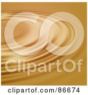 Royalty Free RF Clipart Illustration Of A Circular Golden Ripple Background by Arena Creative