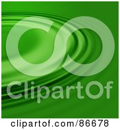 Royalty Free RF Clipart Illustration Of A Green Ripple Background