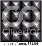 Royalty Free RF Clipart Illustration Of A Closeup Of Metal Studs On Black