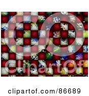 Royalty Free RF Clipart Illustration Of A Background Of Abstract Colorful And Red Cubes by Arena Creative