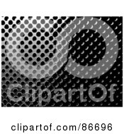 Royalty Free RF Clipart Illustration Of A Shiny 3d Black Metal Grille Background by Arena Creative