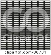 Royalty Free RF Clipart Illustration Of A White And Black Metal Grill Background