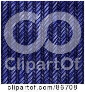 Royalty Free RF Clipart Illustration Of A Weaved Blue Denim Texture Background