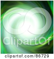 Royalty Free RF Clipart Illustration Of A Bright Light In A Spinning Green Vortex