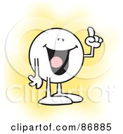 Royalty Free RF Clipart Illustration Of A Moodie Character Holding Up A Finger While Making His Point by Johnny Sajem