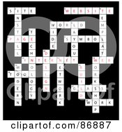 Royalty Free RF Clipart Illustration Of A Web Design Vocabulary Crossword Puzzle On Black