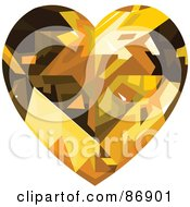 Amber Diamond Heart