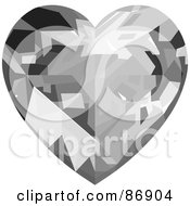 Royalty Free RF Clipart Illustration Of A Clear Diamond Heart