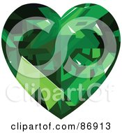 Emerald Diamond Heart