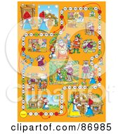 Royalty Free RF Clipart Illustration Of A Little Red Riding Hood Board Game Layout by Alex Bannykh