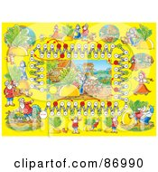 Royalty Free RF Clipart Illustration Of A Giant Turnip Fairy Tale Board Game Layout