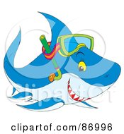 Royalty-Free (RF) Clipart Illustration of a Cute Snorkel Shark by Alex Bannykh #COLLC86996-0056