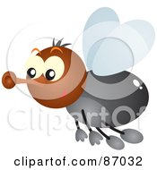 Royalty Free RF Clipart Illustration Of A Cute Shiny Fly Bug