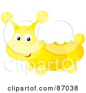 Royalty Free RF Clipart Illustration Of A Cute Shiny Caterpillar Bug by Alex Bannykh