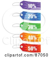 Group Of Colorful Store Discount Sales Tags