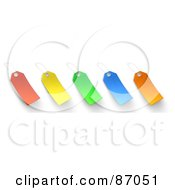 Royalty Free RF Clipart Illustration Of A Group Of Blank Colorful Sales Tags Version 1