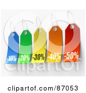 Royalty Free RF Clipart Illustration Of A Group Of Colorful Discounted Sales Tags Version 2