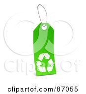 Royalty Free RF Clipart Illustration Of A Green And White Blank Recycle Sales Tag Version 2
