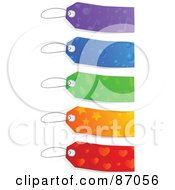 Royalty Free RF Clipart Illustration Of A Group Of Colorful Patterned Sales Tags by Tonis Pan