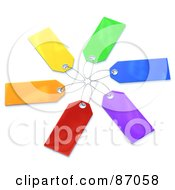 Royalty Free RF Clipart Illustration Of A Group Of Blank Colorful Sales Tags Version 3