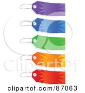 Royalty Free RF Clipart Illustration Of A Group Of Colorful Burst Sales Tags