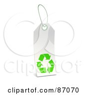 Royalty Free RF Clipart Illustration Of A Blank White Recycle Sales Tag