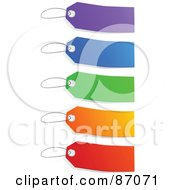 Royalty Free RF Clipart Illustration Of A Group Of Blank Colorful Sales Tags Version 2