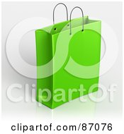 Royalty Free RF Clipart Illustration Of A Plain 3d Green Shopping Or Gift Bag