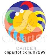 Circular Cancer Astrology Scene