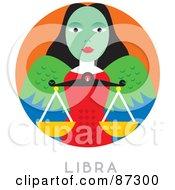 Royalty Free RF Clipart Illustration Of A Circular Libra Astrology Scene