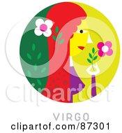 Circular Virgo Astrology Scene