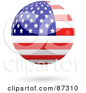Royalty Free RF Clipart Illustration Of A Shiny 3d United States Of America Sphere by elaineitalia