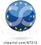 Royalty Free RF Clipart Illustration Of A Shiny 3d Europe Sphere by elaineitalia