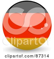 Royalty Free RF Clipart Illustration Of A Shiny 3d Germany Sphere by elaineitalia