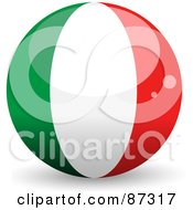 Royalty Free RF Clipart Illustration Of A Shiny 3d Italy Sphere by elaineitalia