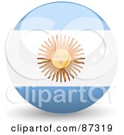 Royalty Free RF Clipart Illustration Of A Shiny 3d Argentina Sphere by elaineitalia