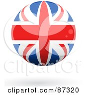 Royalty Free RF Clipart Illustration Of A Shiny 3d United Kingdom Sphere by elaineitalia