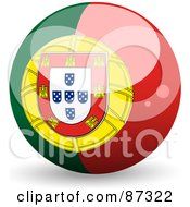 Royalty Free RF Clipart Illustration Of A Shiny 3d Portugal Sphere by elaineitalia