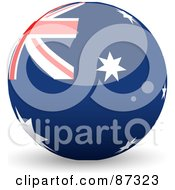 Royalty Free RF Clipart Illustration Of A Shiny 3d Australia Sphere by elaineitalia