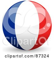 Royalty Free RF Clipart Illustration Of A Shiny 3d France Sphere by elaineitalia